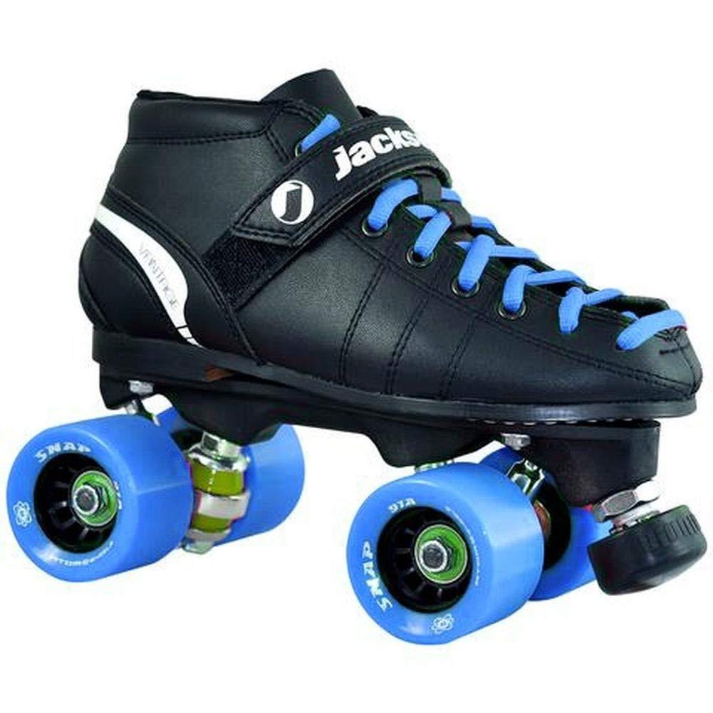 Atom Skates Jackson Roller VIP Rink Package (5.5 Adult, Blue Wheels)