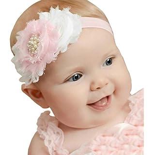 sannysis venda del beb rhinestone diadema flor infantil banda para el cabello j
