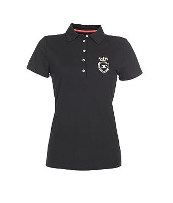 f6fe5cb311913c Xfore Damen Golf Funktions Poloshirt St. Yves mit Glitzerstickerei und  Golddruck