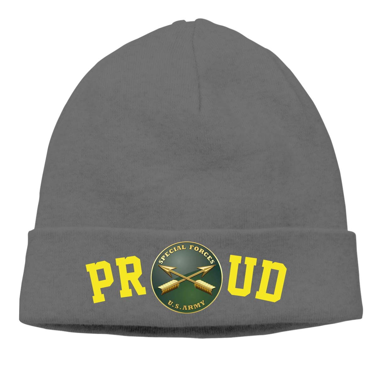 fa8e3483b99 Proud US Army Special Forces Mens Beanie Cap Skull Cap Winter Warm Knitting  Hats. at Amazon Men s Clothing store