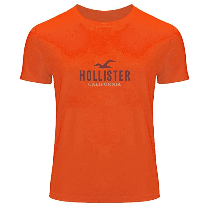 DIY Hollister - Camiseta de manga corta estampada para hombre Naranja  naranja XXX-Large  Amazon.es  Ropa y accesorios f161390c69
