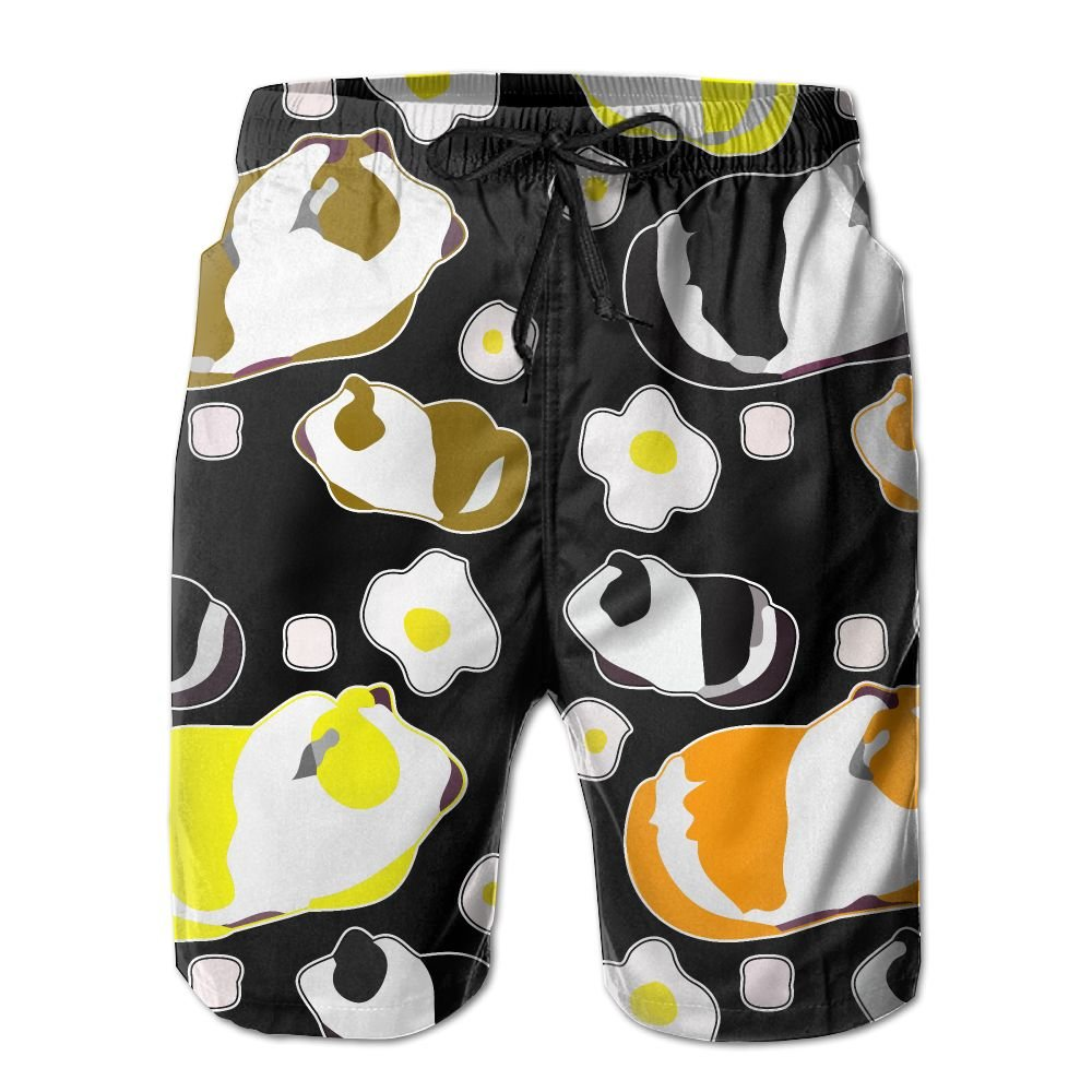 OIYP Cute Guinea Pigs Men's Basic Watershorts M With Pocket