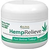 Organic Hemp Extract 200 Mg Pain Relief Cream Plus Arnica and MSM 4 oz.