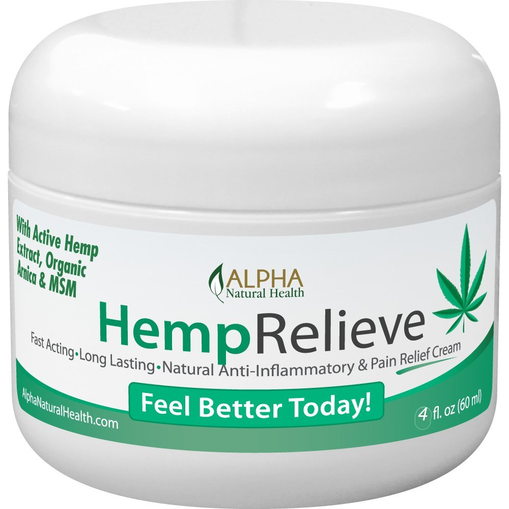 Organic Hemp Extract 200 Mg Pain Relief Cream Plus Arnica and MSM 4 oz. by Alpha Natural Health