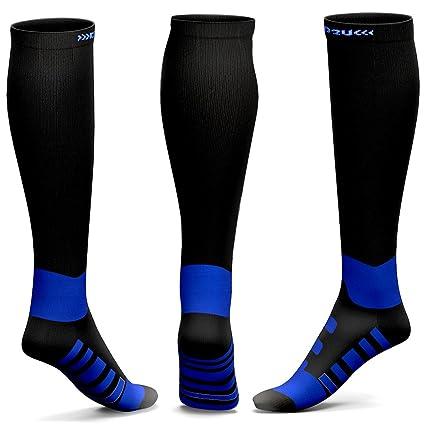 e8530c375d Compression Socks Men Women for Edema, Varicose Veins, Diabetic Socks Black  Blue S