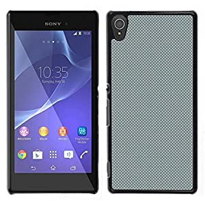 EJOY---Cubierta de la caja de protección la piel dura para el / Sony Xperia T3 / --GRIS Modelo de puntos