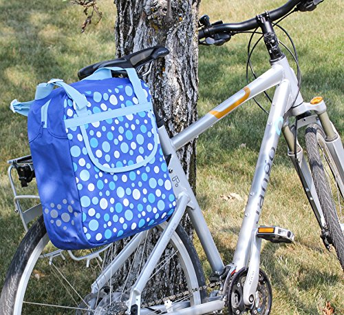 (FastRider Shopper DOT Bike Pannier/Bag Blue 13L Water Resistant Single)