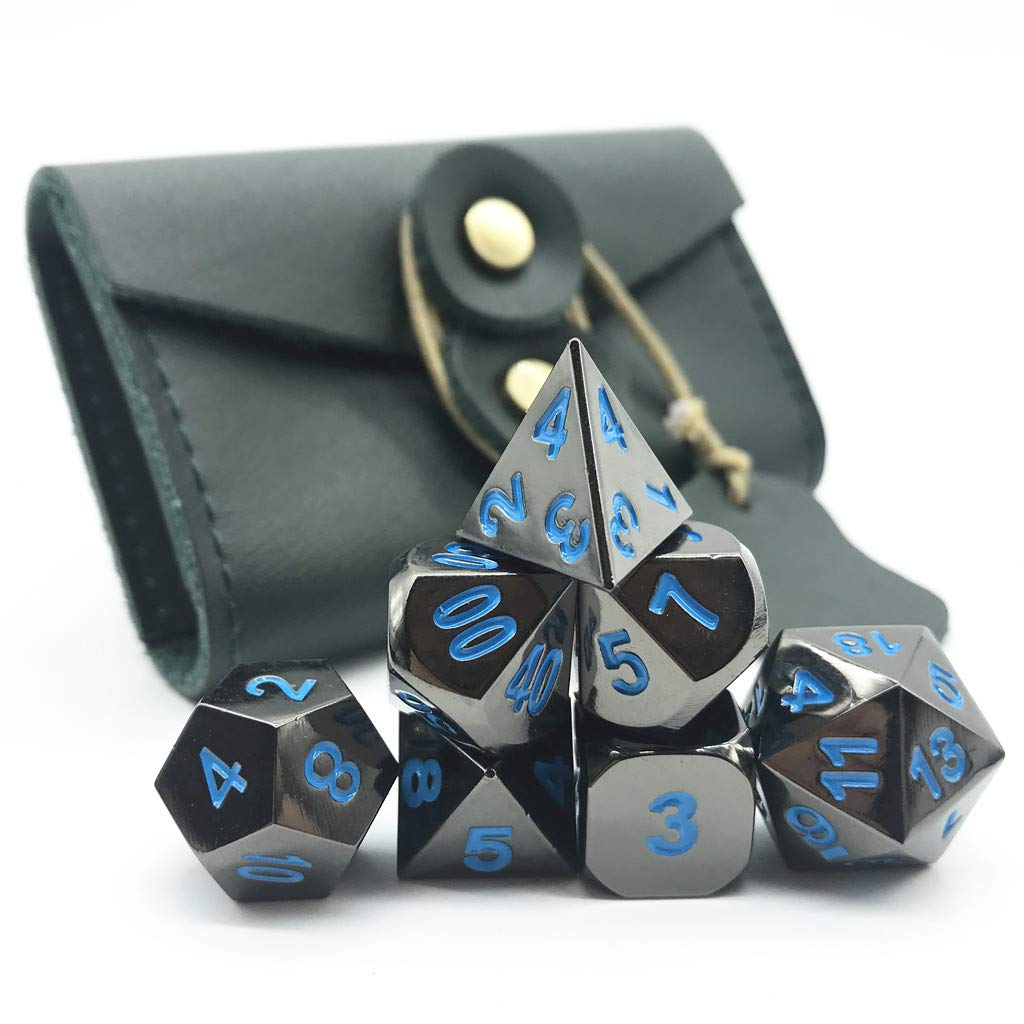 Momostar Gear Metal Dice Set for Dungeons /& Dragons RPG Polyhedral Dices 15+Color for Choice.