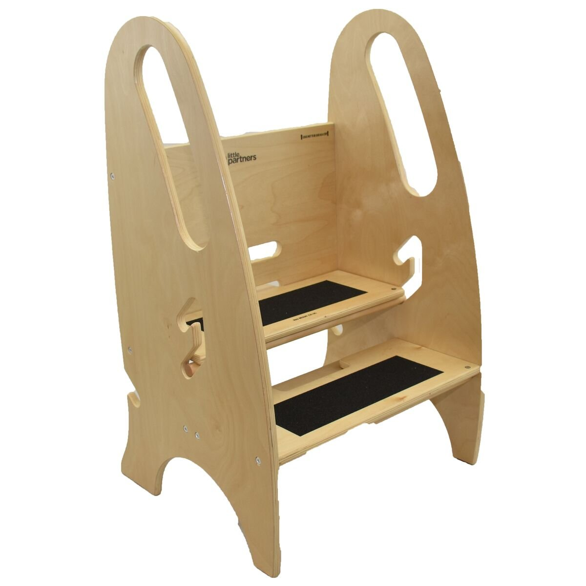 The Growing Step Stool by Little Partners (Natural) – Adjustable Height Nursery, Kitchen or Bathroom Kids Footstool – Wooden Non-Tip Design for Both Toddlers & Adults (Supports Up To 250lbs)