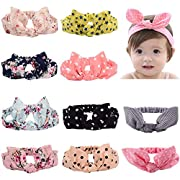 chenna Baby headband Turban Knotted for Newborn Toddler and Childrens(10 Pack)