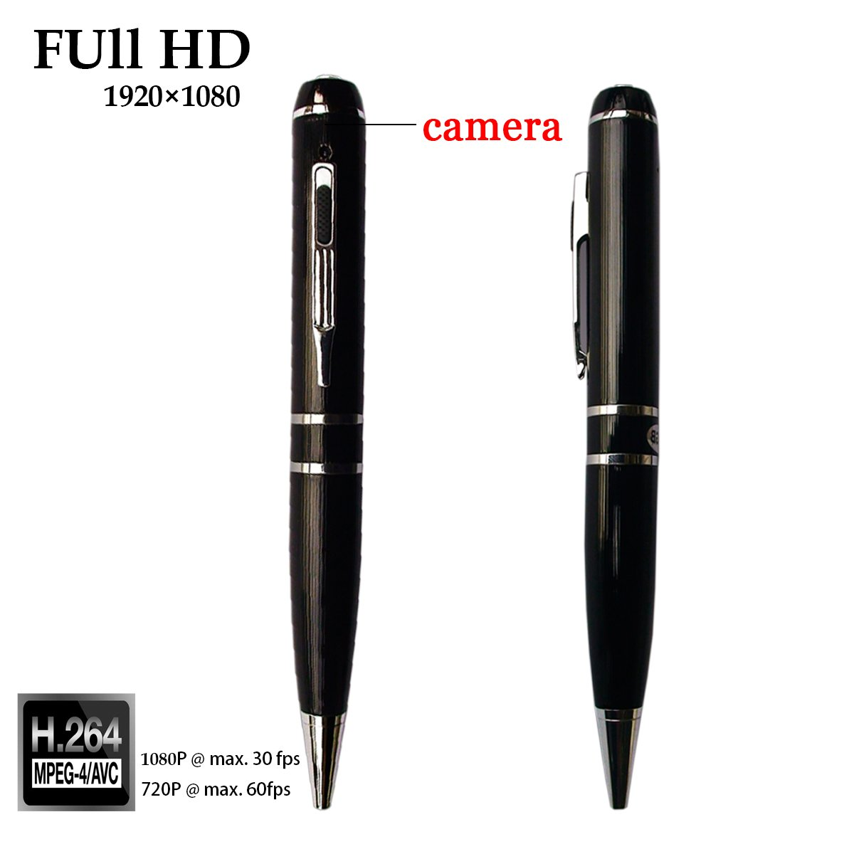 SUNMENCO Full HD 1080P Mini videoc/ámara Pen c/ámara de grabaci/ón de v/ídeo Plug and Play Extreme Pen Oculto c/ámaras DVR grabadora multifunci/ón 16 GB//32 GB de Memoria integrada