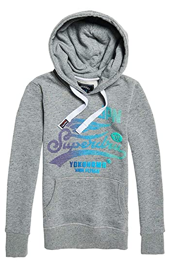 Superdry Women s High Flyers Fade Dot Entry Hoo Jumper  Amazon.co.uk   Clothing 92e31b064a12