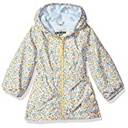 OshKosh B'Gosh Osh Kosh Baby Girls Fleece Lined Midweight Windbreaker Jacket, Sunshine Yellow, 12M
