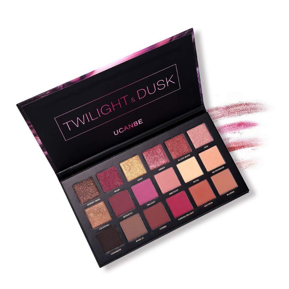 Paleta de sombras de ojos, mate, purpurina, 18 colores: Amazon.es ...