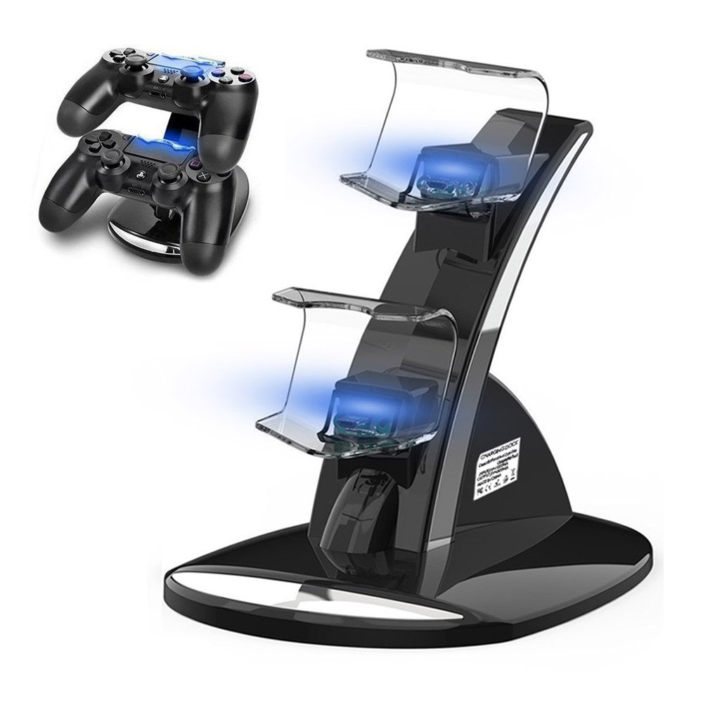 PS4 Controller Charger, Ponkor PS4 Controller Dock, Dual USB Charging Station for Sony PS4/PS4 Slim/PS4 Pro Controller/DualShock 4 by Ponkor
