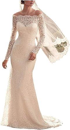 Amazon Com Yipeisha Brial Dresses Long Sleeve Wedding Dresses