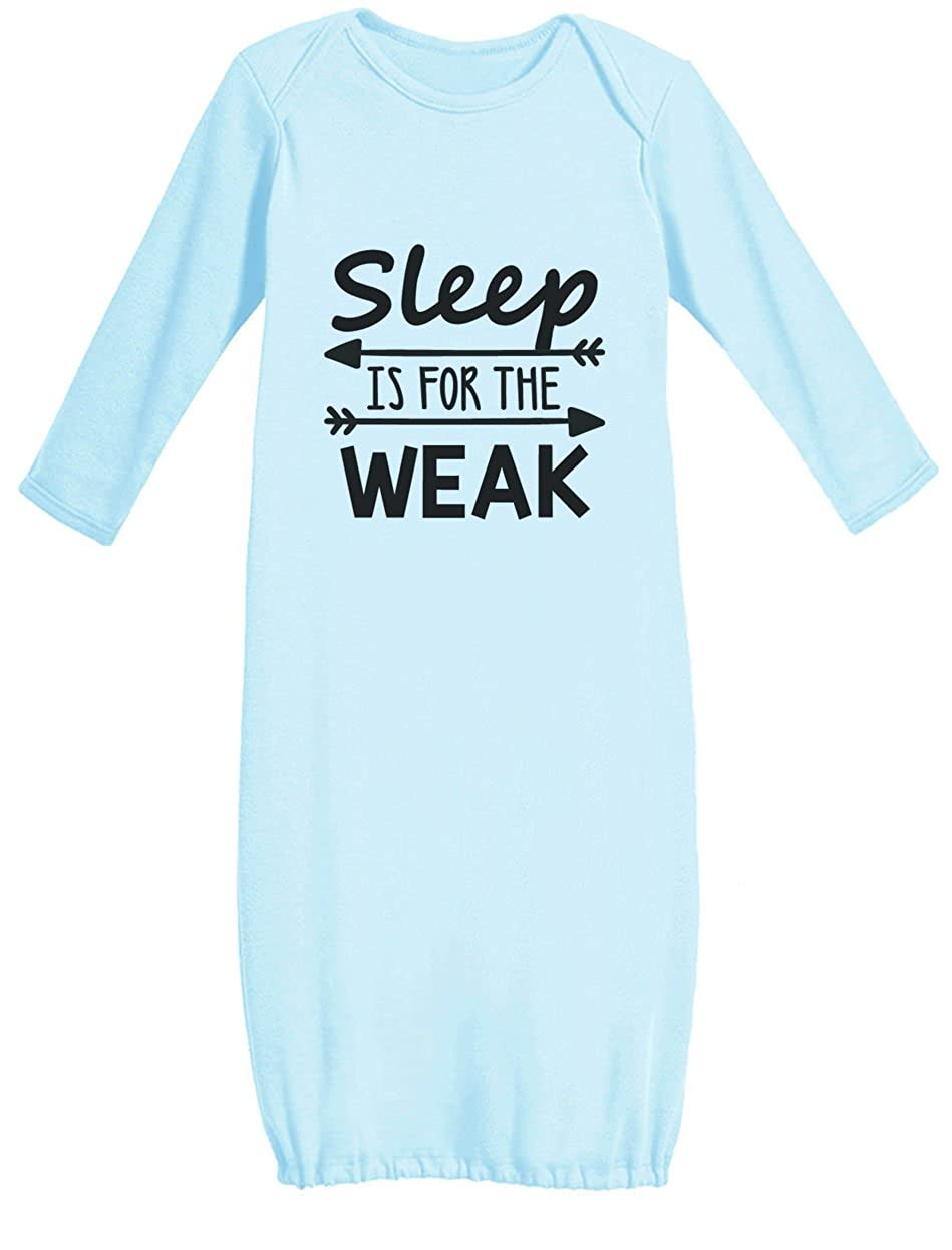 Tstars Sleep Is For The Weak Funny Baby Boy/Baby Girl Newborn Baby Long Sleeve Gown GhPhZPhgjwt3jw9V1