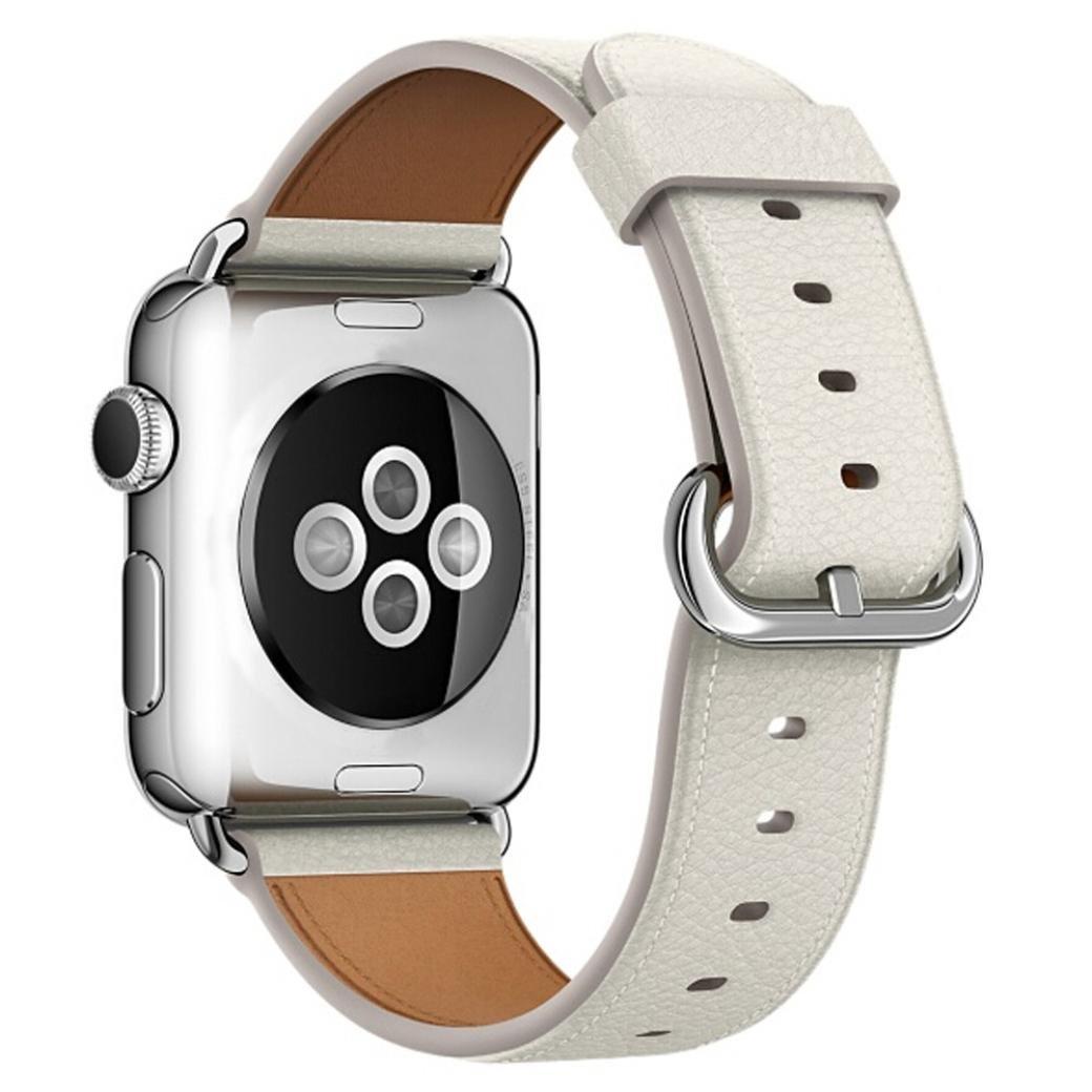 fullfun Apple Watchバンド本革iWatchストラップfor Apple Watch 38 mm、シリーズ3 38mm B077T9DG7T ダークブルー