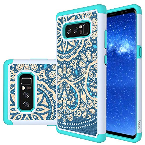 Galaxy Note 8 Case, LEEGU [Shock Absorption] Dual Layer Heavy Duty Protective Silicone Plastic Cover Armor Case for Samsung Galaxy Note 8 (2017)