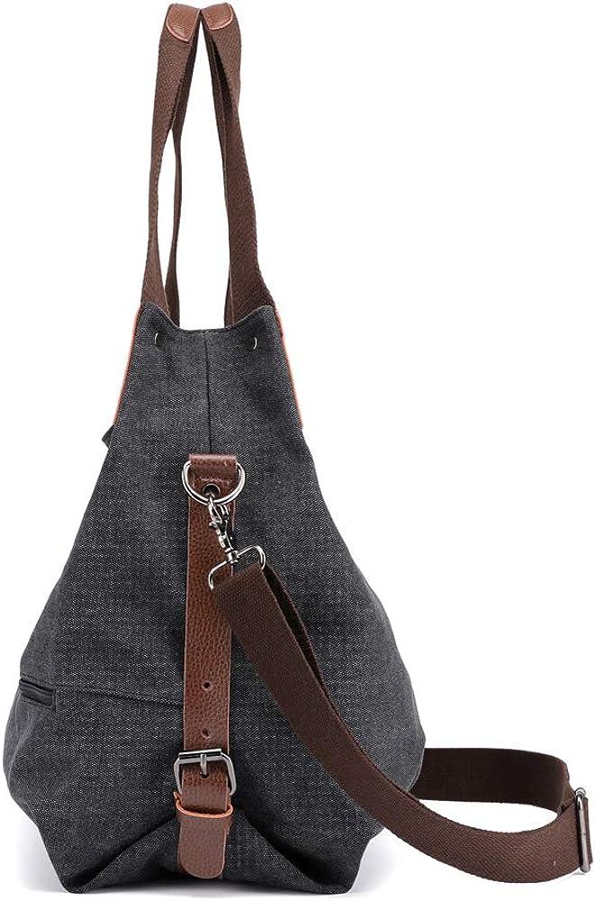 para llevar a la mano para el trabajo para ir de compras Bolso al hombro para mujer estilo casual vintage de lona
