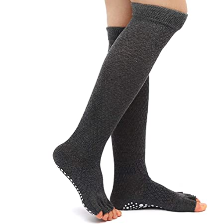 Calcetines de yoga Tubo Alto Tubo Largo Otoño e Invierno ...