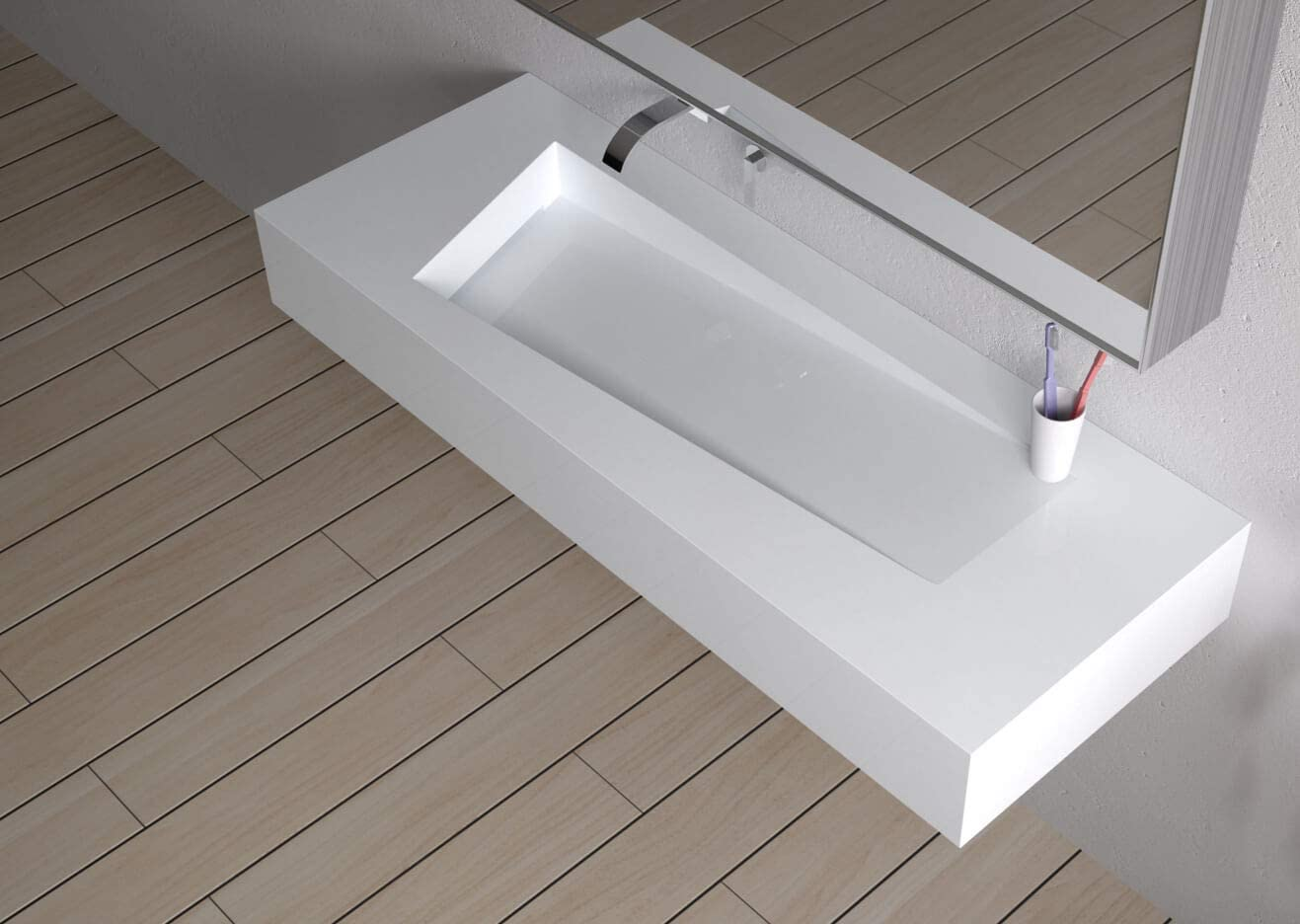 Ice Grey KOHLER K-2957-1-95 Persuade Circ Integrated Bathroom Sink with Single-Hole Faucet Hole Drilling
