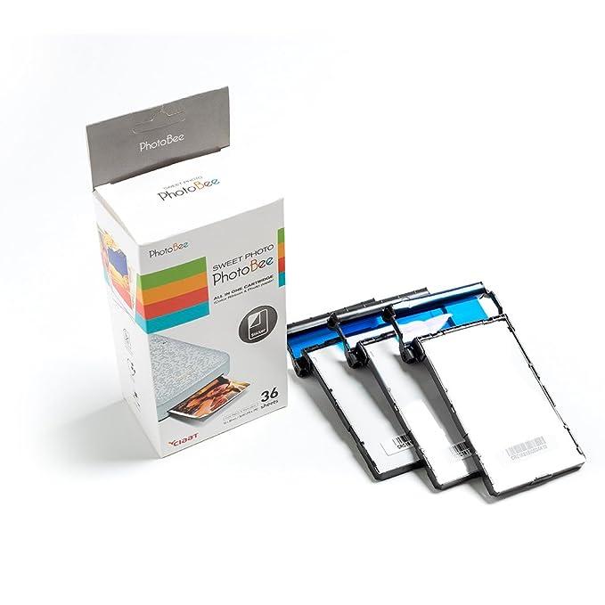 Papel recarga para impresora PhotoBee: Amazon.es: Electrónica