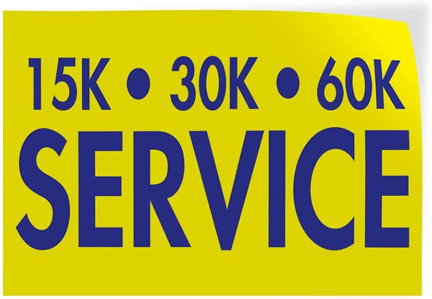 Set of 5 Decal Sticker Multiple Sizes 15K 30K 60K Service Business Money Service Outdoor Store Sign Yellow 27inx18in