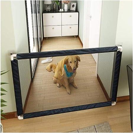 AGLZWY Puerta Mágica Barrera Valla De Seguridad para Mascotas Retráctil Separador De Estancias para Puerta De Escalera Cocina, 5 Tamaños (Color : Negro, Size : 100x80cm): Amazon.es: Hogar