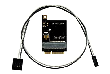 Broadcom Apple WiFi + Bluetooth 4.0 Card to miniPCIe Adapter for PC/Hackintosh Laptop with Full size miniPCIe card