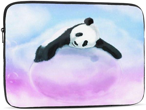 Cute Dancing Pandas Pattern Laptop Messenger Bag Zipper Notebook Computer Sleeve Case Compatible 14-15.4 Inch Laptop
