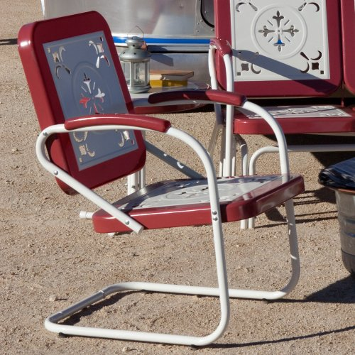 (Coral Coast Paradise Cove Retro Metal Arm Chair)
