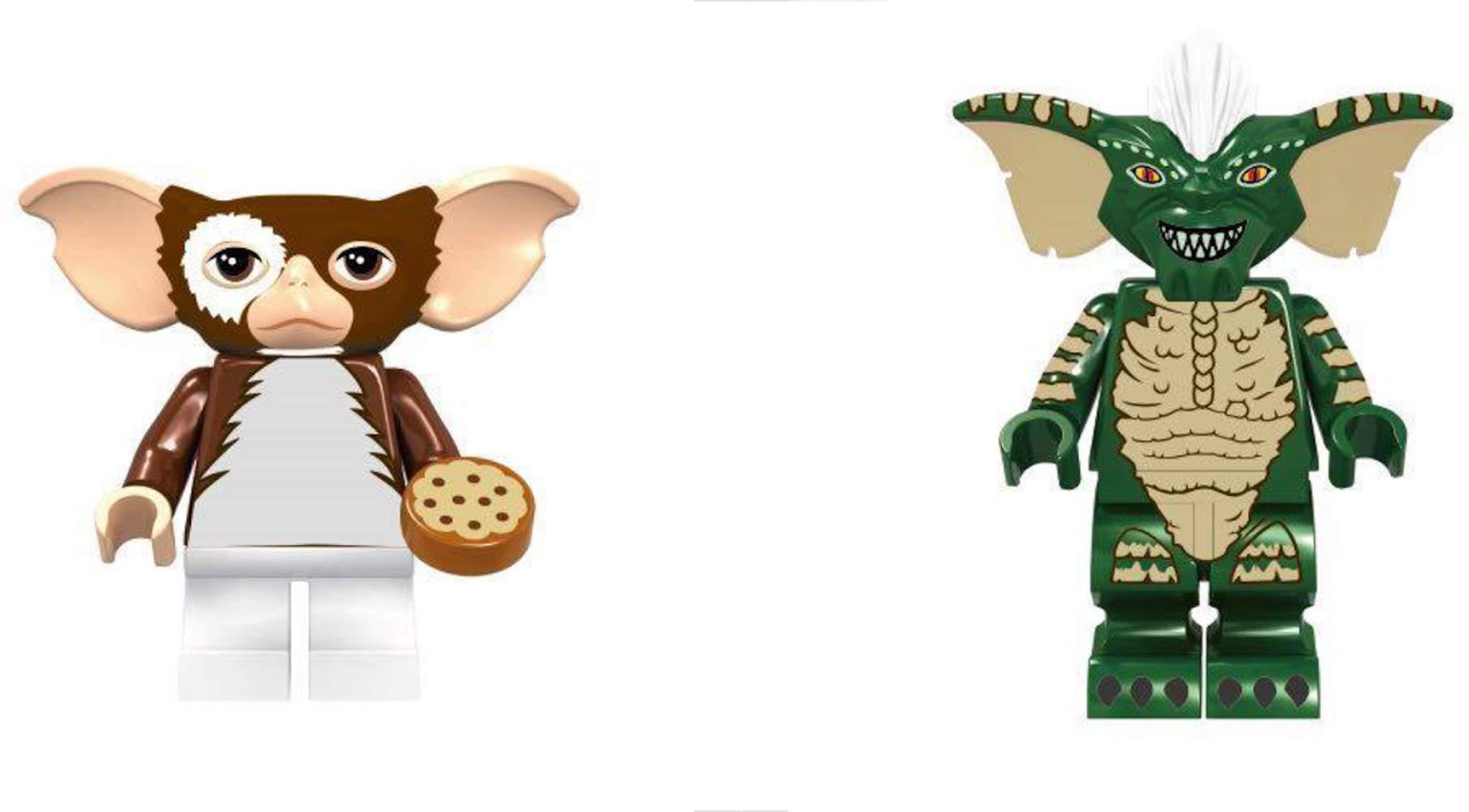 NEW Set Gremlins GIZMO and STRIPE Minifigures 2 pcs set Custom Lego Bricks
