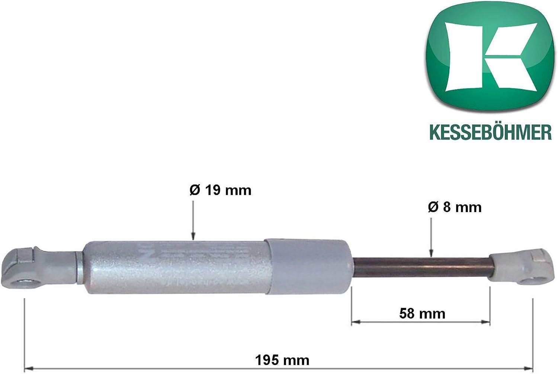 470N Modell 2018 verst/ärkte Ausf/ührung 450N 2 x SO-TECH/® Kesseb/öhmer Kompressionsfeder Lift-O-Mat f/ür Kesseb/öhmer