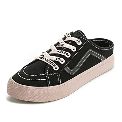 4a807d8b9d6c Image Unavailable. Image not available for. Color  MIKA HOM Girl Women s  Sneakers Casual Canvas Shoes ...