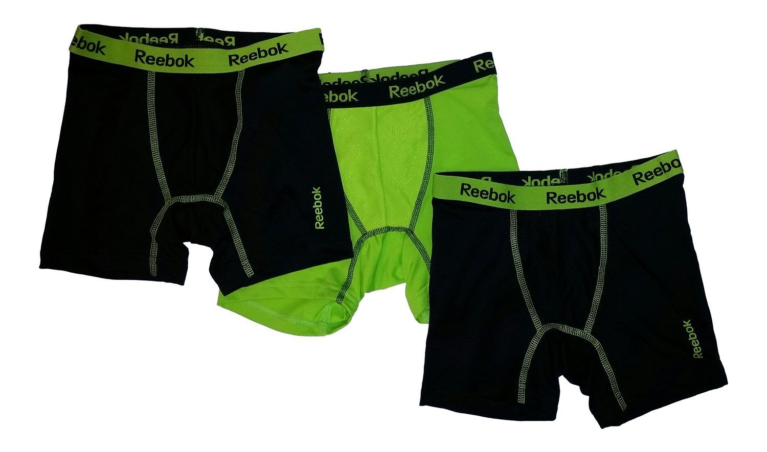 Reebok Boys Performance Boxer Briefs - 3 Pack (Small)