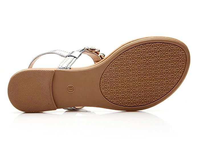 Scothen Sandalias las mujeres, plataforma cuña del flotador Faldas playa Zapatos de playa Casual Zapatos de verano de las mujeres Bohemia Floral Sandalias ...