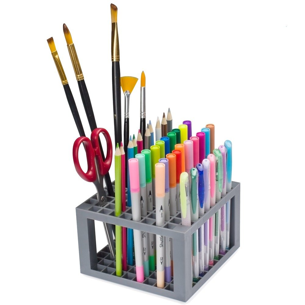 Shuttle Art 96 Hole Pens Pencils Brush Holder Desk Stand Organizer Holder for Pens, Paint Brushes, Colored Pencils, Markers 4336938421