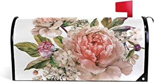 domook Magnetic Mailbox Cover Greetings Personalized Home Garden Decorative Mailbox Post Wrap Standard/Large Sized Outdoor Courtyard Garden Fence Winter Holiday Flower Floral