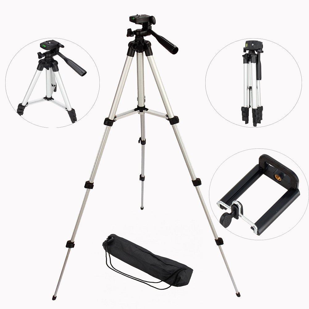 Adjustable Camera Mount, Portable Camera Tripod Stand Bracket Holder for iPhone Samsung Mobile Phone Canon Nikon Sony DV by Yosoo