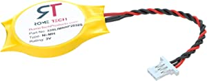 RTC CMOS Battery for DELL Latitude E4200 E4300 Studio 14 14z 1440 1440-PP40L - BIOS RTC 3V CR2032 Battery with 3 Pin 3 Wire Cable