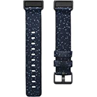Fitbit Charge 4 Accessory Band, Official Fitbit Product, Woven, Midnight, Small