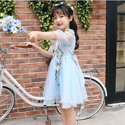 bdd5a49456ba9 JIANGWEI 子供ドレス 女の子 ピアノ 花 発表会 ワンピース キッズ フォーマル 子供服 プリンセスドレス 結婚
