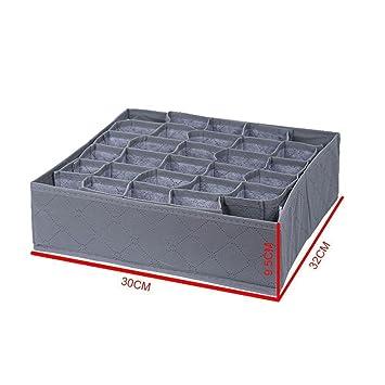 joyfeel buy 30 rejilla caja Derangement de calcetín plegable cajas de almacenamiento de organizador de cajón