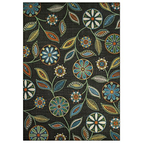 Area Rugs, Maples Rugs [Made in USA][Reggie Artwork Collection] 7' x 10' Non Slip Padded Large Rug for Living Room, Bedroom, and Dining Room by Maples Rugs