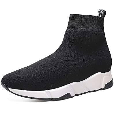138c663419f4 CHAMARIPA Mens Height Increasing Shoes High Top Knit Sock Sneakers Elevator  Boots 6cm H82C92D041D  Amazon.co.uk  Shoes   Bags