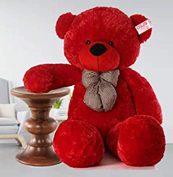 OSJS Premium Quality Huggable Stuffed Teddy Bear in Red Color – 3 Feet