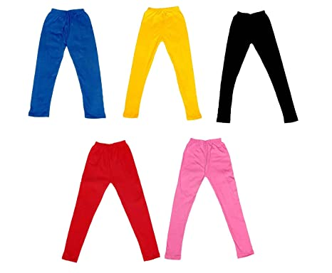 58c127a501878 IndiWeaves Girl's Super Soft Cotton Leggings Combo Pack of 5  (7140907050408-IW-22_Multicolour_1