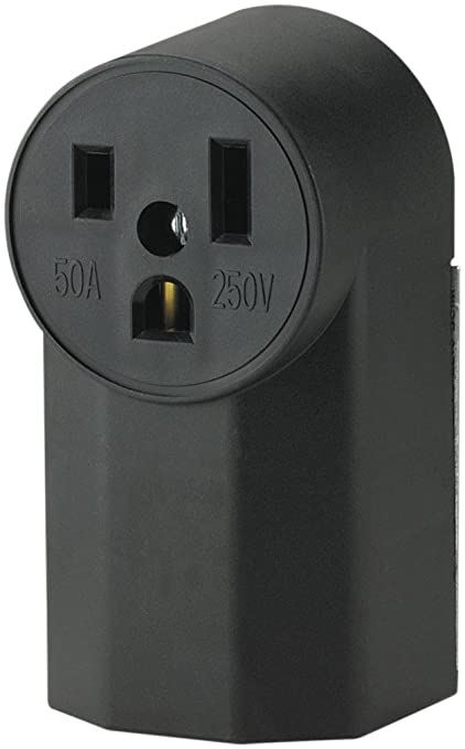 the eaton wd1252 2-pole 3-wire 50-amp 125-volt surface mount power  receptacle, black - electrical outlets - amazon com