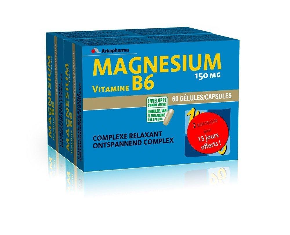Magnésium Vitamine B6 60 gélules Arkopharma: Amazon.es ...